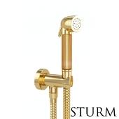 Hygienic shower STURM Lilie, color gold