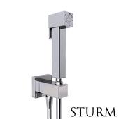 Hygienic shower STURM Square, color chrome