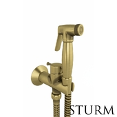 Hygienic shower STURM Style, bronze color