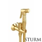Hygienic shower STURM Style, color gold