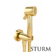 Hygienic shower STURM Traum, color gold