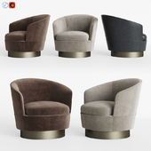 Minotti Jacques Low Armchair Fixed