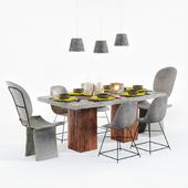 Bachelor dinner table