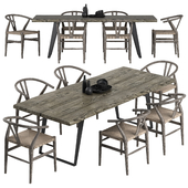 Crate and Barrel dining set