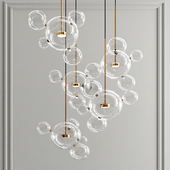 Giopato & Coombes Bolle Chandelier 24 Bubbles - Round type