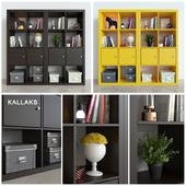 Rack Ikea Kallax / Kallaks with decor
