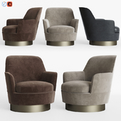 Minotti Jacques High Armchair Fixed High