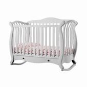 Crib Baby Italia Andrea Lux Glitter White