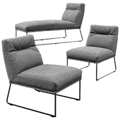 KFF D-LIGHT LOUNGE chair and chaise