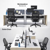 Renew Link Workstation & Celle chair