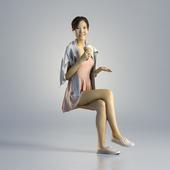 Woman Jess Casual Sitting 001