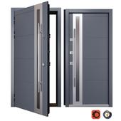 Entrance metal door Inox S-2 (Your Frame)