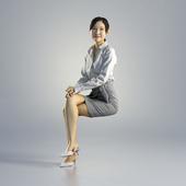 Woman Jess Business Sitting 002
