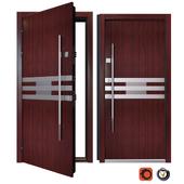 Entrance metal door Inox S-4 (Your Frame)
