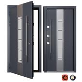 Entrance metal door Inox S-7 (Your Frame)