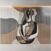 Marquetry Abstract Figures decor panels