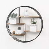 Round shelf decor set