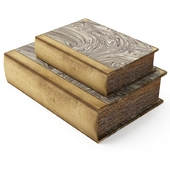 THREE HANDS 7.25 in. x 2.75 in. Book Boxes in Brown