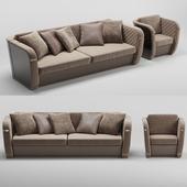Francesco Molon sofa and armchair Bond