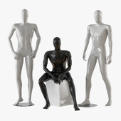Three male mannequins 20
