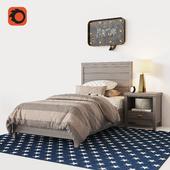 ASHBY UPHOLSTERED PLATFORM BED