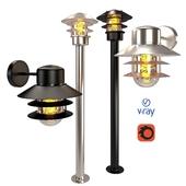 Наружные светильники, модель ZICO, от компании LUCIDE, Бельгия.