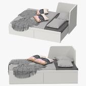 Ikea fllekke bed