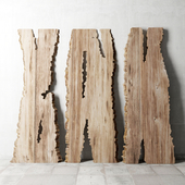 Wood slab / Wooden slab