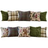 Новогодние/рождественские зеленые подушки (Pillows New Year Christmas green YOU)