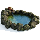 Декоративный садовый водоем 2