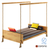 Individual Bed sofa with rope and pillows