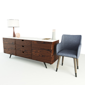 Cabinet with chair