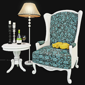 Armchair with decor 5