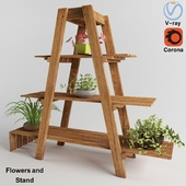 Flowers and Stand