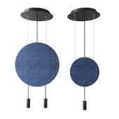 revolta pendant with acoustic panel by nahtrang for estiluz