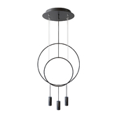 revolta r40.1s1d round multi-light pendant by nahtrang for estiluz