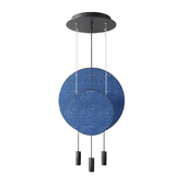 revolta r40.1s1d round multi-light pendant with acoustic panel