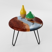 Round Resin Table