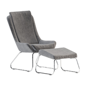 Kerstin resting chair with footstool