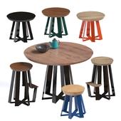 Набор столов и стульев ARS от ARTLESS