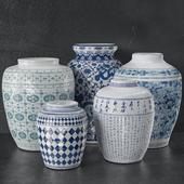 China Porcelain Vase Set 01