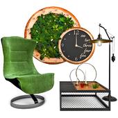 Armchair with decor 6