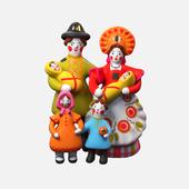 "Dymkovo toy ""Family"""