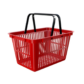 plastic shopping basket