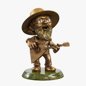 "Figurine ""Gardener with a balalaika"""