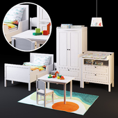 A set of furniture SUNDVIK from IKEA for children