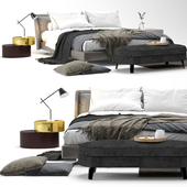 Spencer bed - by Minotti