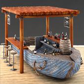 Rusty boat Vessel ship bar restaurant beach