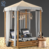 Beach Bed Decoration Lamp with Backpack Bag