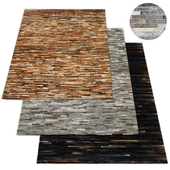 South American Cowhide Stripe Rug RH